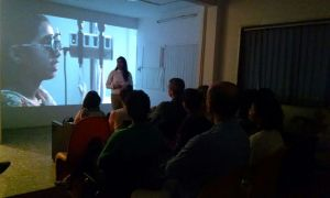 Reena Saini Kallat speaking about her work