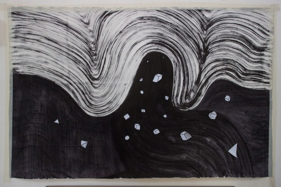 1 drawing on paper